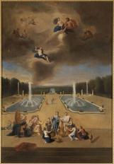 16. Vue du Parterre d'eau sur la terrasse de Versailles et des cabinets des Animaux - Jean Cotelle