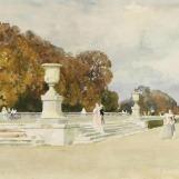 Vue du parc de Versailles, Henri Zuber
