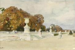 Vue du parc de Versailles